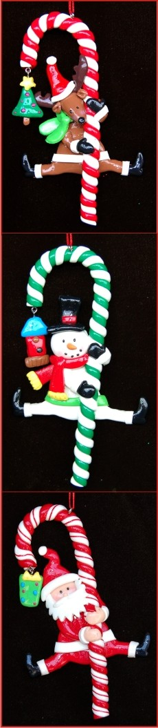 Celebrate with Santa, Rudolph & Frosty Personalized Christmas Ornament