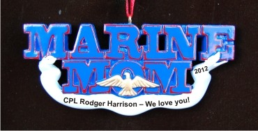 Marine Mom Christmas Ornament Personalized by Russell Rhodes