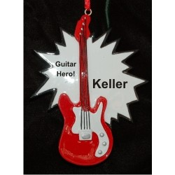 Guitar Master, Rock On! Christmas Ornament Personalized by Russell Rhodes