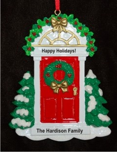 Red Door Welcome Home Christmas Ornament