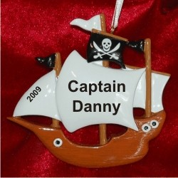 Carribean Pirates Personalized Christmas Ornament