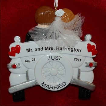 Wedding Day Fun Personalized Christmas Ornament