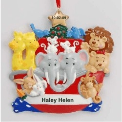 Baby Noah's Ark Christmas Ornament