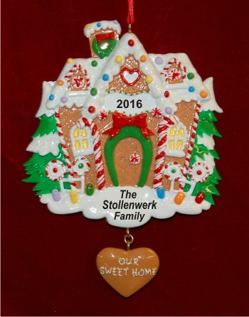 Gingerbread Sweet Surprise Christmas Ornament