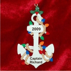 Anchors Away      Personalized Christmas Ornament
