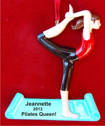 Pilates Calms the Spirit Christmas Ornament Personalized