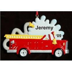 Firetruck on the Way Personalized Christmas Ornament