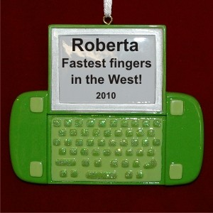 Texting Christmas Ornament Personalized by Russell Rhodes