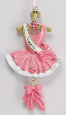 Ballerina Christmas Ornament Personalized by Russell Rhodes