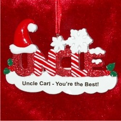 Uncle Christmas Ornament Personalized by Russell Rhodes