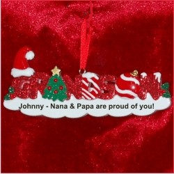 Grandson Personalized Christmas Ornament