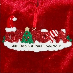 Grandpa Christmas Ornament Personalized by Russell Rhodes