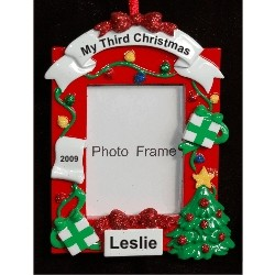 Christmas Celebrations Photo Frame Christmas Ornament Personalized by Russell Rhodes