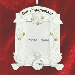 engagement frame christmas ornament - Engagement Photo Frame