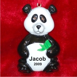 Panda Personalized Christmas Ornament