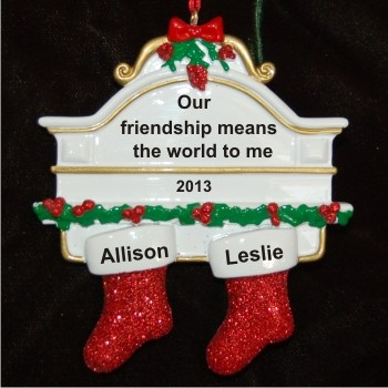 Two Friends for Life Christmas Ornament Personalized by Russell Rhodes
