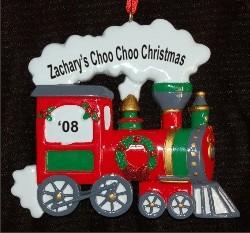 Personalized Train Personalized Christmas Ornament Personalized by Russell Rhodes