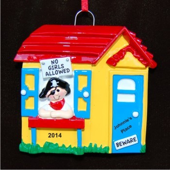 No Girls Allowed Christmas Ornament Personalized by Russell Rhodes