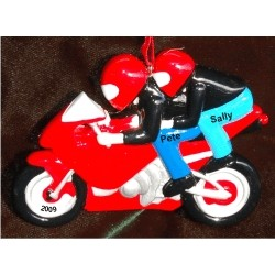 Sports Bike Motorcycle for 2 Personalized Christmas Ornament