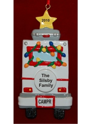 RV Camping Personalized Christmas Ornament