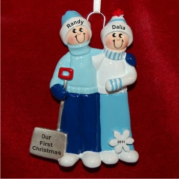 Winter Fun Family Christmas Ornament Personalized by Russell Rhodes
