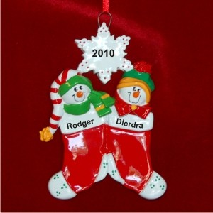 Siblings Personalized Christmas Ornament