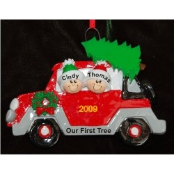 Let's Get the Tree! Family Ornament for 2 Christmas Ornament