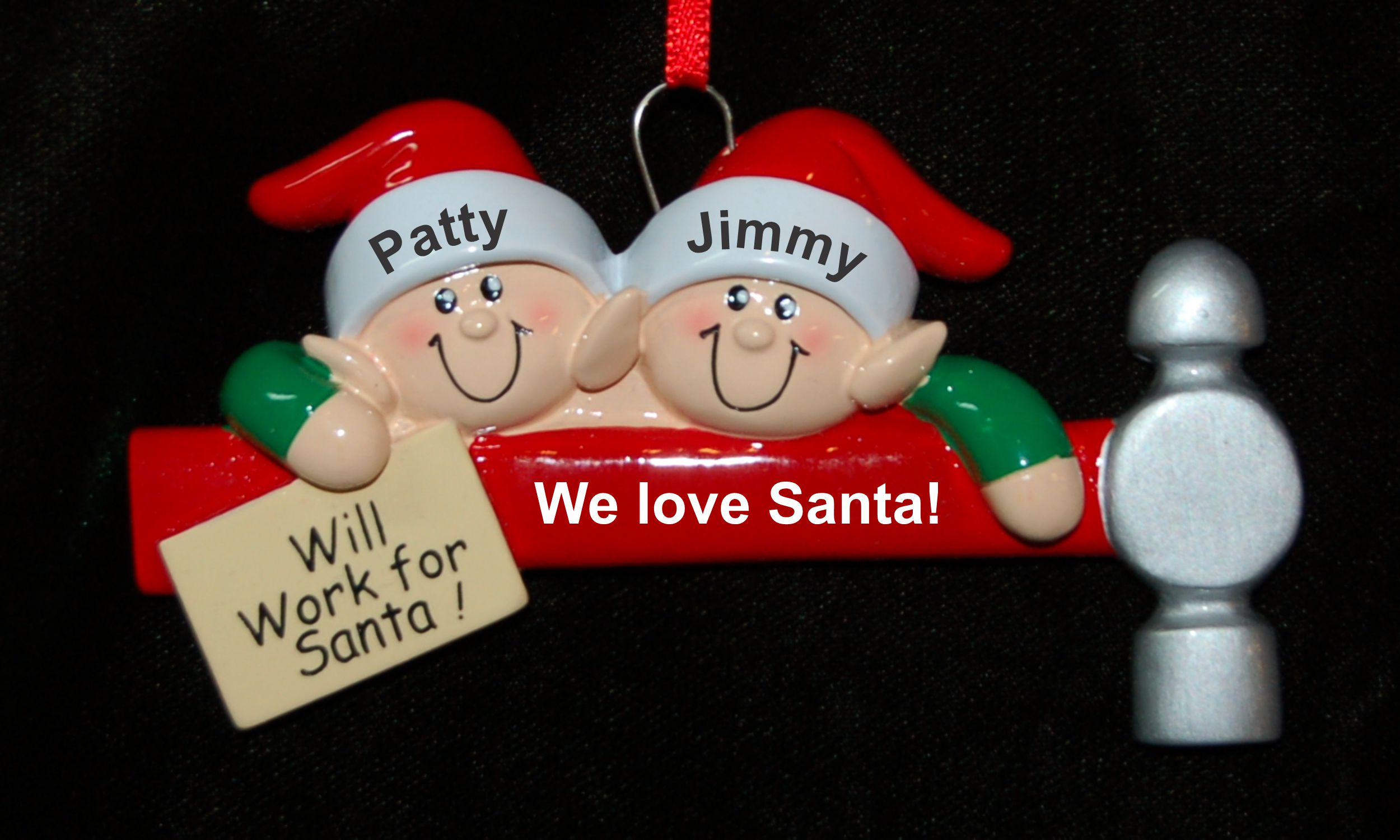 Personalized Family Christmas Ornament Will Work for Santa Our 2 Kids Personalized by Russell Rhodes