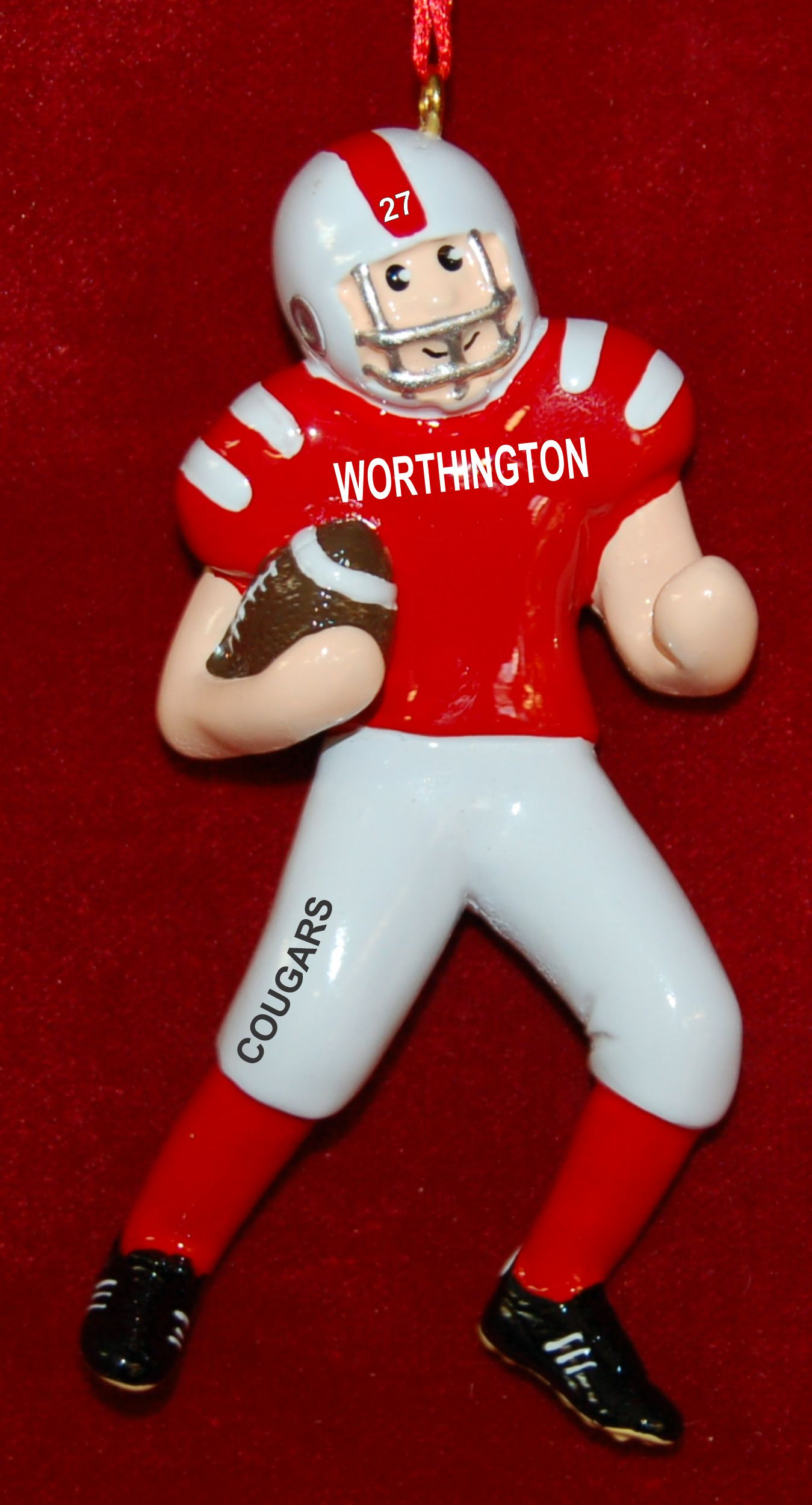 Personalized Football Christmas Ornament Fast & Fun by Russell Rhodes