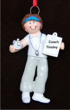 Female Coach Personalized Christmas Ornament