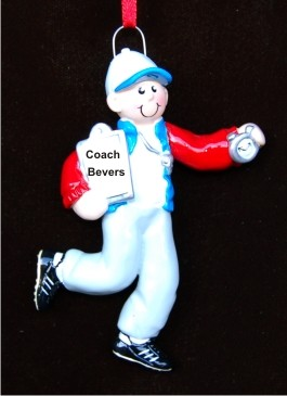 Male Coach Personalized Christmas Ornament