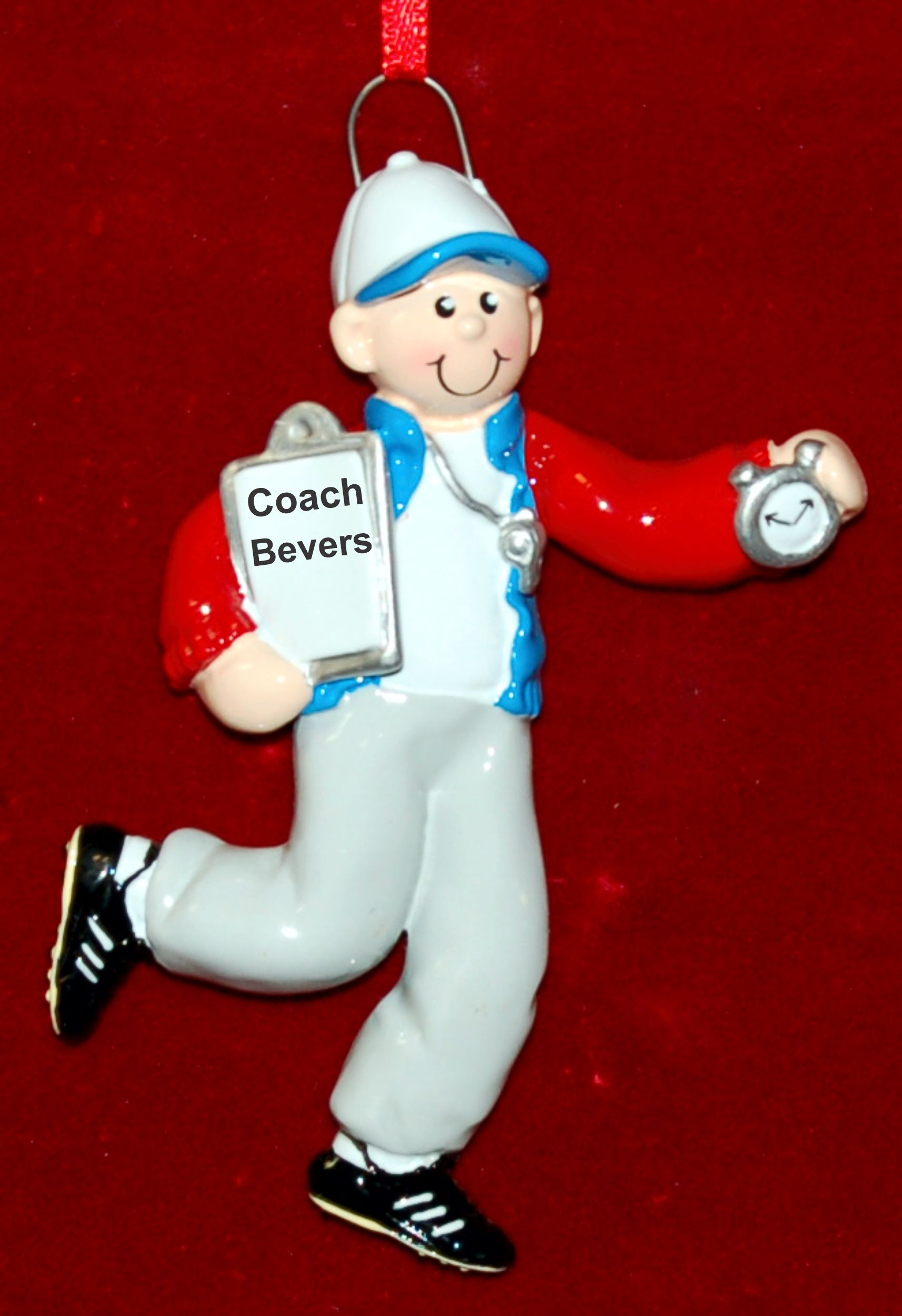 Personalized Coach Christmas Ornament Male by Russell Rhodes