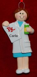 Female Pharmacist Personalized Christmas Ornament