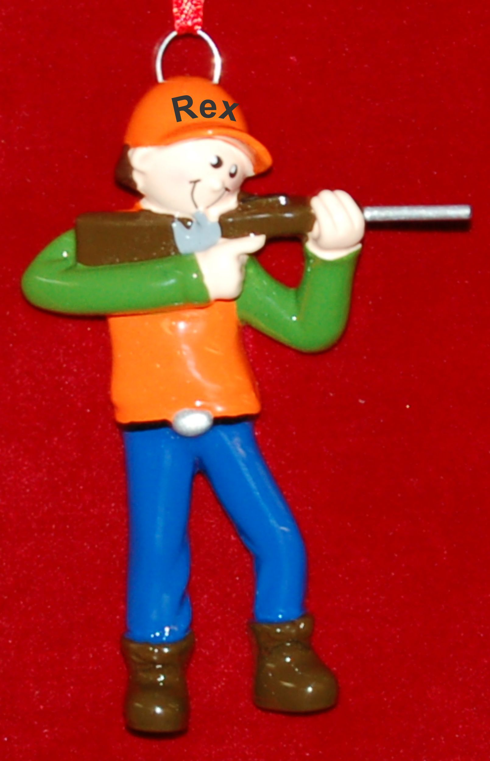 Personalized Hunting Christmas Ornament Safety First by Russell Rhodes