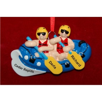 Rafting Personalized Christmas Ornament