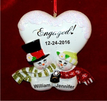 Blissful Engagement | Hand Personalized Christmas Ornaments by ...