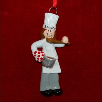 Girl Chef Personalized Christmas Ornament