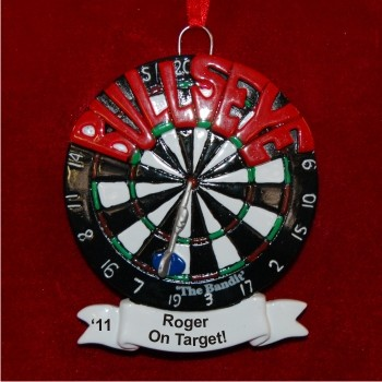 On Target Bullseye Personalized Christmas Ornament