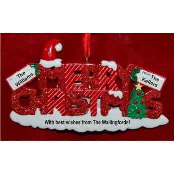 Merry Christmas Personalized Christmas Ornament