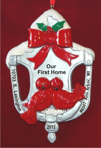 Door Knocker Our First Home Christmas Ornament Personalized by Russell Rhodes