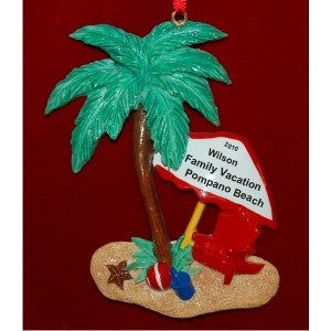 Oasis Personalized Christmas Ornament
