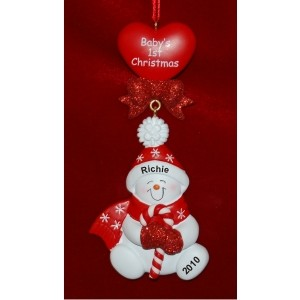 Candy Cane Sweet Baby Girl or Boy Christmas Ornament
