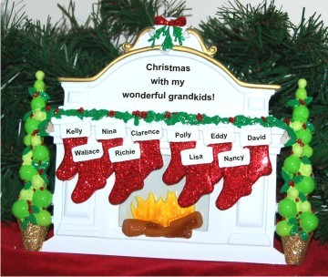 Christmas Mantel: Our 10 Grandkids Tabletop Christmas Decoration