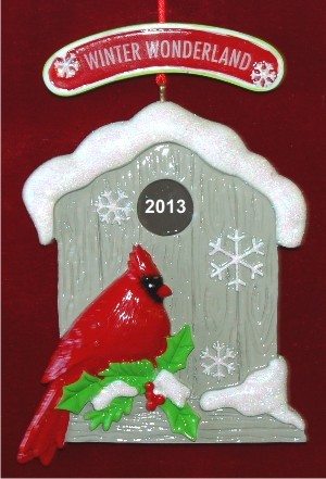 Winter Wonderland Our New Home Christmas Ornament Personalized