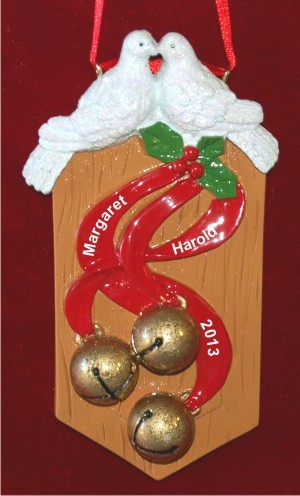 Love Birds Our First Christmas Together Christmas Ornament Personalized