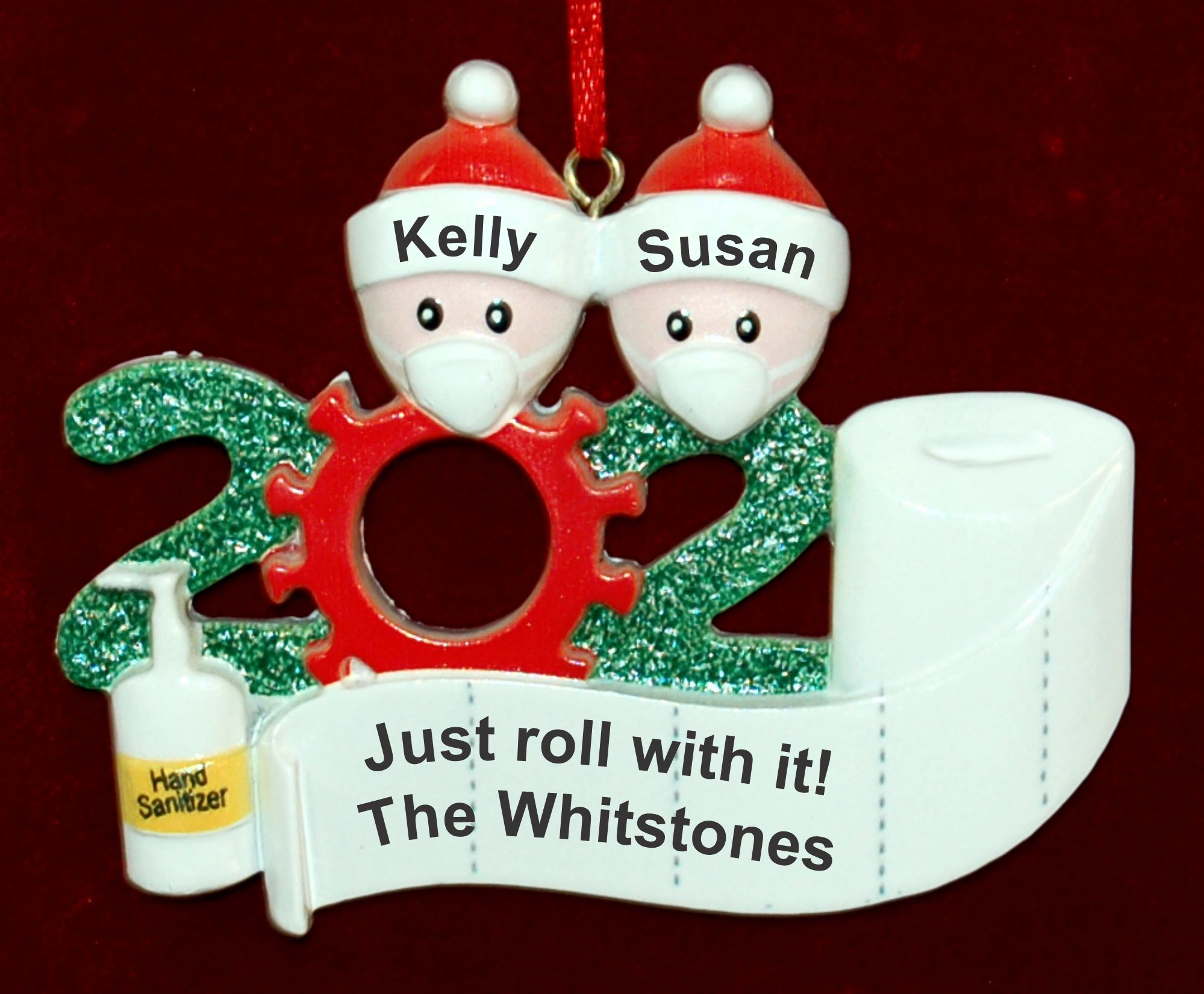 Personalized Pandemic Christmas Ornament Rolling with it for 2 Personalized FREE by Russell Rhodes