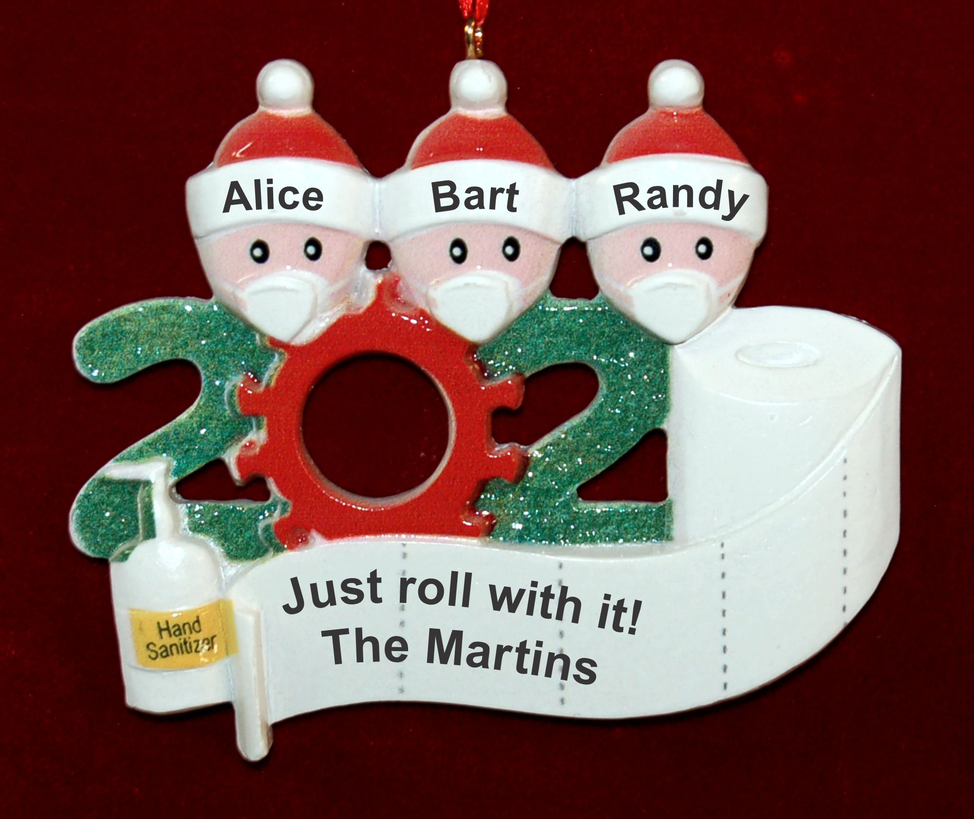 Personalized Pandemic Christmas Ornament Rolling with it for 3 Personalized FREE by Russell Rhodes