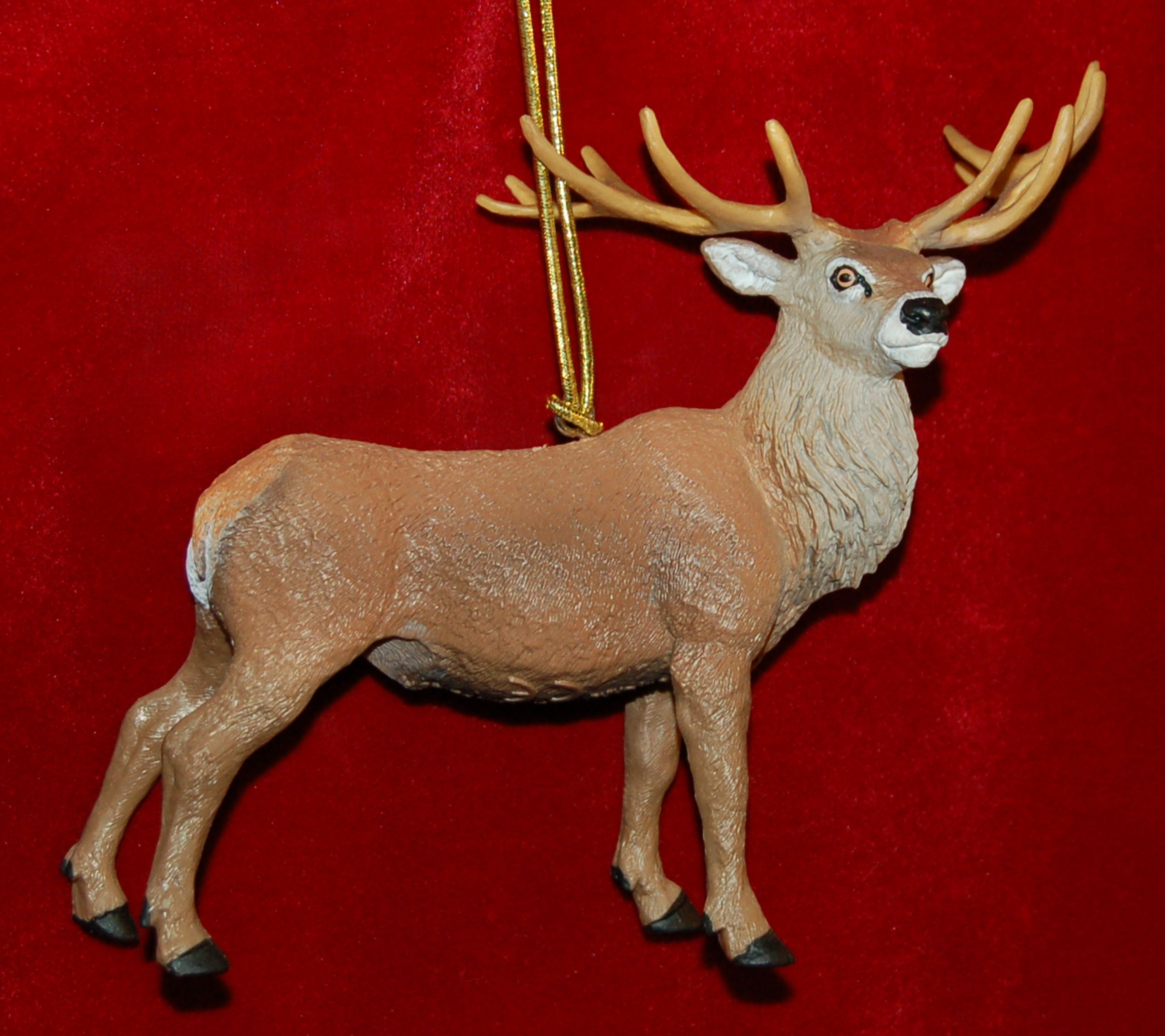 Personalized Red Deer Stag Christmas Ornament by Russell Rhodes