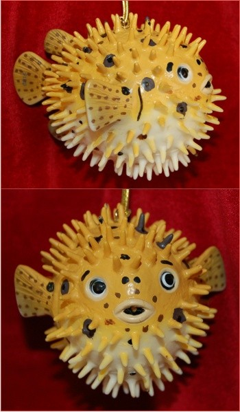 Puffer Fish Christmas Ornament