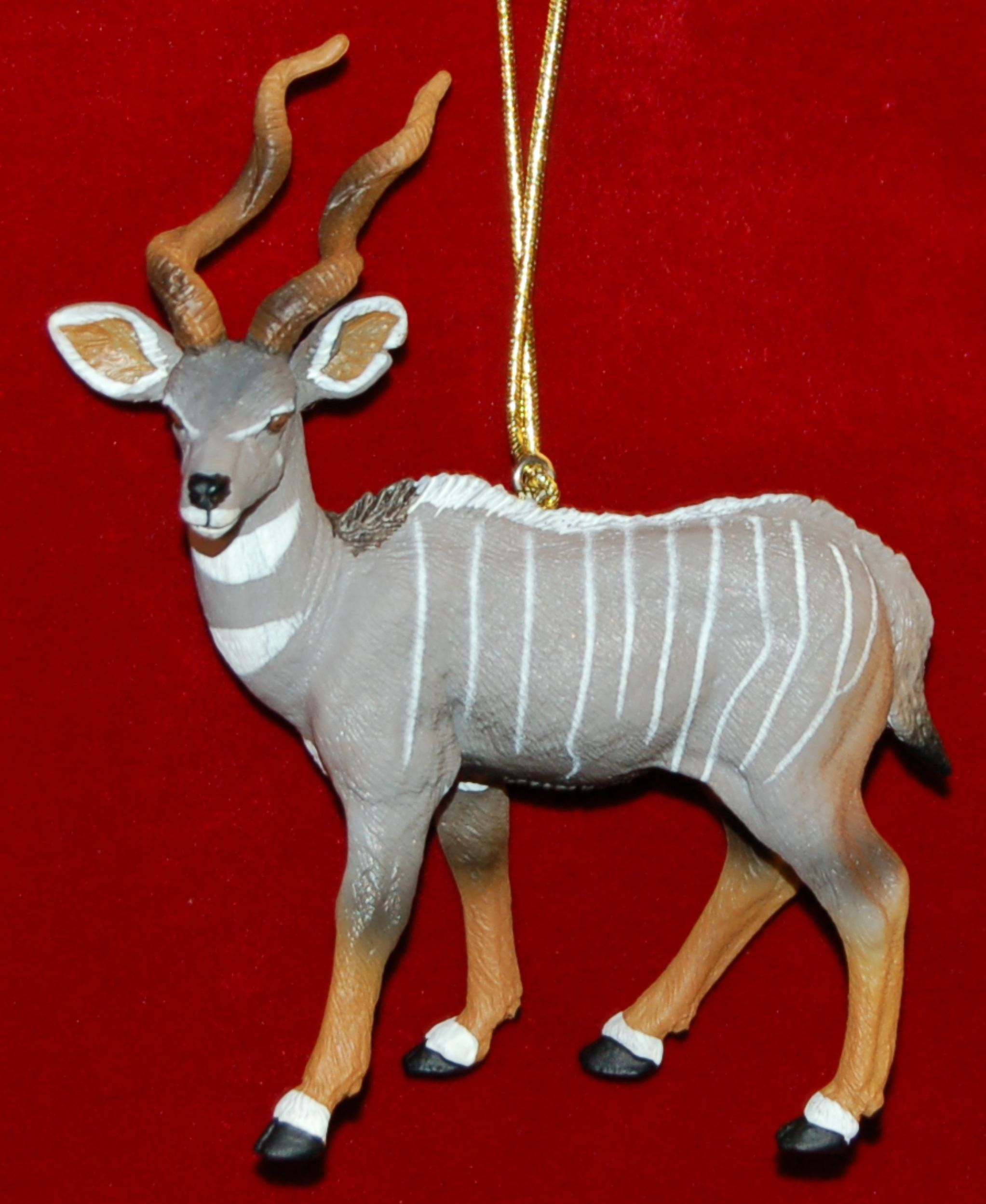 Lesser Kudu Christmas Ornament by Russell Rhodes